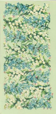 Sheet Victorian Die Cut Scraps, Lily of the Valley Flowers, Raphael Tuck    J47