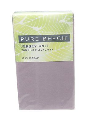 Pure Beech Two King Jersey 100%-Modal Knit Pillowcases, Lilac