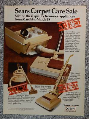 1981 Sears Kenmore Vacuums and Carpet Cleaners - Vintage Magazine Ad Page
