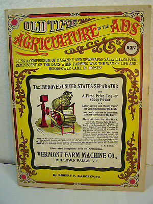 OLD TIME AGRICULTURE IN ADS book Vintage Farm ADVERTISING Tractor Stove Quack