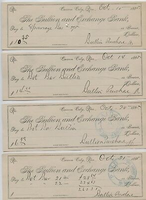 4-pcs. of 1885 GOLD & SILVER BAR PURCHASE BANK RECEIPTS