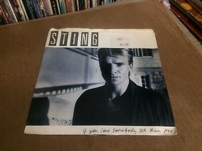 """Sting If You Love Somebody Set Them Free Pic Sleeve With Vinyl 45 7""""  P"""