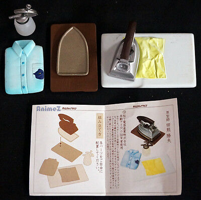 Miniature doll house 5 piece iron set shirt board Official by Kaiyodo Japanese