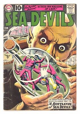 SEA DEVILS #2  DC 1961 - Russ Heath & Jack Adler Art - GD-