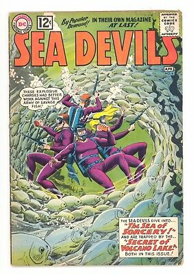 SEA DEVILS #4  DC 1962 - Russ Heath & Jack Adler Art - GD-
