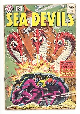 SEA DEVILS #6  DC 1962 - Russ Heath & Jack Adler Art - VG-