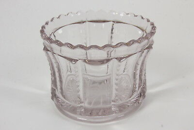 "EAPG Sun Purple Smal Oval Dish Scalloped Edge 2 1/2"" Tall Antique Glassware"