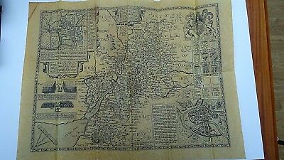 Old map of Gloucestershire 1610 Vintage Reproduction on Parchment