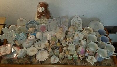 Precious Moments Estate Lot of 50 Fiqurines Mugs Bells Plagues Bank Plate Frame