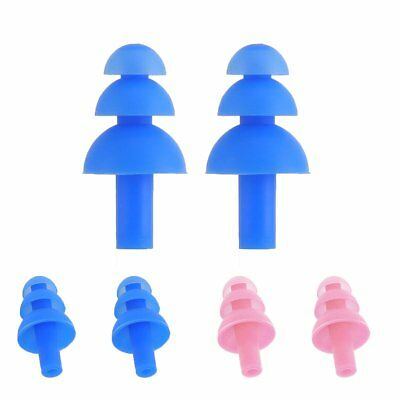 2pcs Silicone Ear Plug Anti Noise Snore Earplug Comfortable For Study Sleep