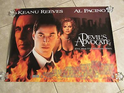 The Devil's Advocate movie poster - Al Pacino, Keanu Reeves, Charlize Theron