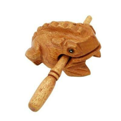 Wooden Animal Money Frog Kids Musical Instrument Percussion Toy Gift NEW - Y2