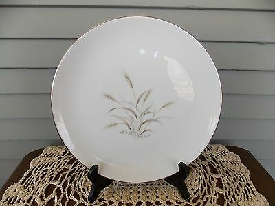 """Vintage Gemini Wheat Dinner Plate 10 3/8"""" with Gold Rim Fine China Made in Japan"""