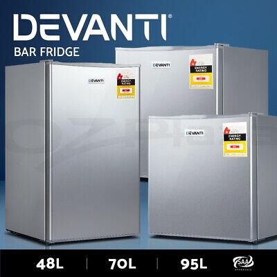 Devanti Portable Mini Bar Fridge Home Office Refrigerator Freezer 48L 70L 95L