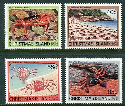 Red Land Crabs 1984 - Mnh Set Of Four (Bl315-Rr)