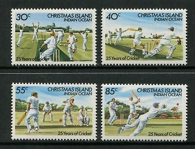 25 Years Of Cricket On Christmas Island 1984 - Mnh Set Of Four (Bl315-Rr)