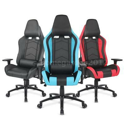 Ergonomic PU Leather Racing Gaming Office Chair Executive Computer Recliner Y3I6