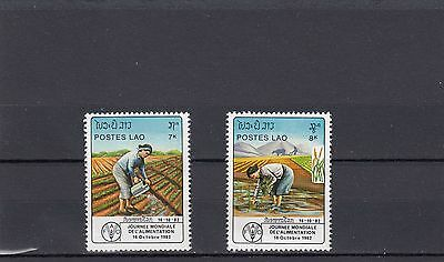 a102 - LAOS - SG597-598 MNH 1982 WORLD FOOD DAY