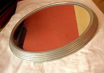 grand PLATEAU MIROIR ART DECO..diametre 33 cm