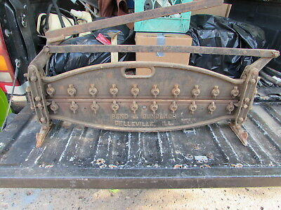 Antique Shingle Cast Iron tile Cutter Vintage Tool Made in USA BENO J GUNDLACH