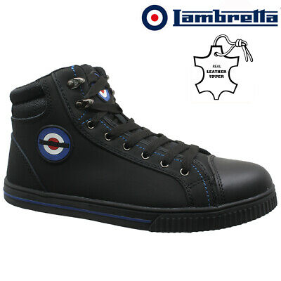Mens Lambretta Leather Safety Boots Steel Toe Cap Ankle Hiker Work Shoes Size
