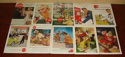 Huge-Lot of 90 ads Coca-Cola, Coke 30's to 60's
