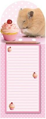 Adorable Hamster Themed Magnetic Memo Note Pad incl Pencil Perfect Gift