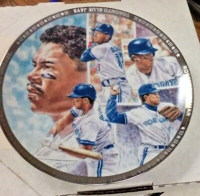 Mlb Toronto Blue Jays Roberto Alomar 2Nd-To-None 9 Inch Plate Nice! Collectible