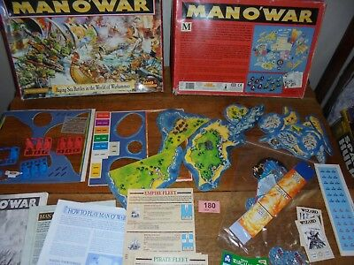 Games Workshop Man O War Fantasy Sea Battle Board Game Complete lot 180