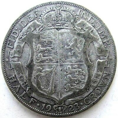 Great Britain Uk Coins, Half Crown 1923, George V, Silver 0.500