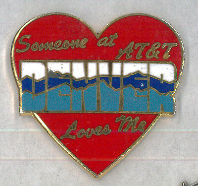 AT&T mobile pin - Someone at Denver Loves Me - wireless communication badge