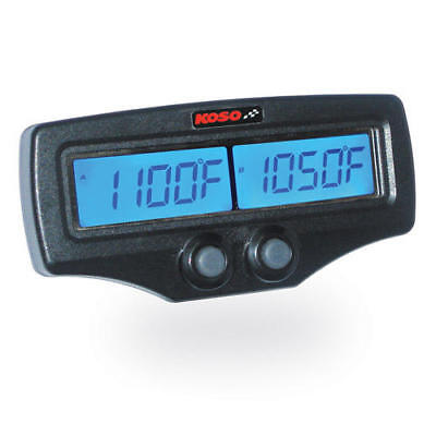 Koso Fast Response EGT Meter with RPM/Water Temperature Dual