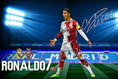 Cristiano Ronaldo★CR7★Portugal★Real Madrid★Autogramm★Poster★A4★Groß-Foto 20x30