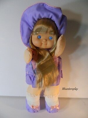 Fisher Price Puffalump Pretty Hair Doll Kid Blonde Purple Dress NWOB