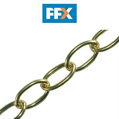 Faithfull FAICHOP18 Oval Chain 1.8mm 10m Polished Brass