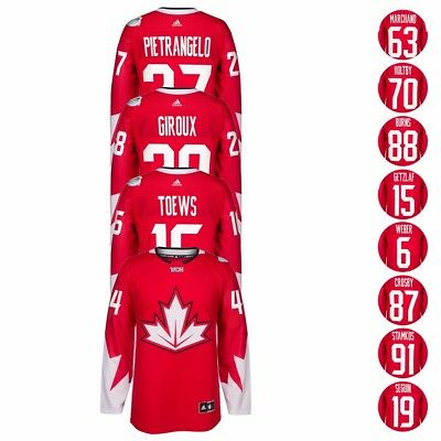 """Canada 2016 NHL Adidas """"World Cup Of Hockey"""" Premier Red Player Jersey Men's"""