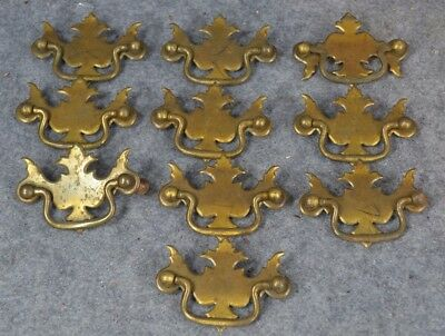 drawer pull bail handle fancy chipendale 3 in. lot group 10 pressed antique