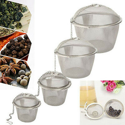 Pro Tea Ball Spice Strainer Mesh Infuser Filter Diffuser Stainless Steel Herbal·