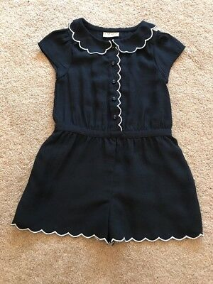 Girls NEXT Navy Smart Playsuit. Age 3 Years. VGC