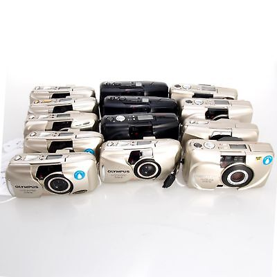 As-Is Lot of 13 (Thirteen) Olympus Stylus 35mm Cameras for Parts Salvage, Repair