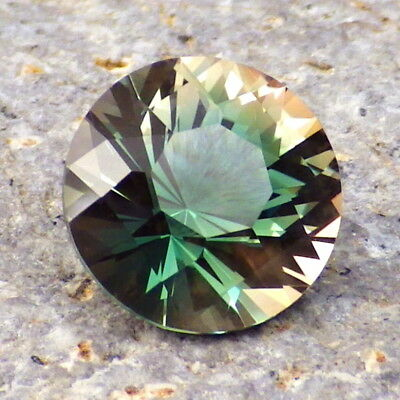 PEACOCK GREEN-BLUE DICHROIC SCHILLER OREGON SUNSTONE 3.03Ct FLAWLESS-INVESTMENT!