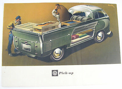 VOLKSWAGEN PICK-UP - 1953 FOLD-OUT BROCHURE - English Language