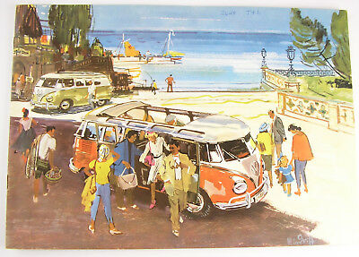 VOLKSWAGEN STATION WAGON - 1960 USA Color Fold-Out Brochure - Bus