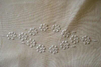 Darling Antique Baby Coverlet And Pillow Case Set For Bassinet Pram Tt297