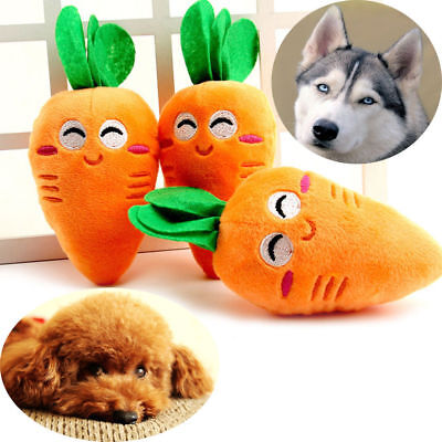 Funny Puppy Pet Supplies Carrot Plush Chew Squeaker Sound Squeaky Dog Toys