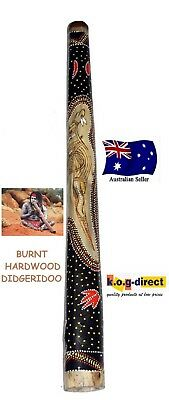 Didgeridoo Burnt Hardwood 130Cm Aboriginal Beautifully Hand Painted New Org