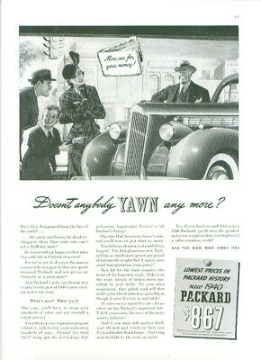 Doesn't anybody yawn any more? Packard ad 1940