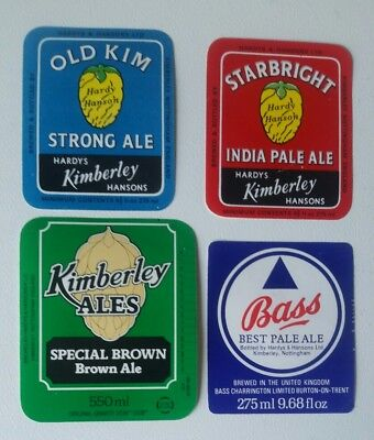 4 Different Hardy & Hansons Beer Labels  Free Post Australia