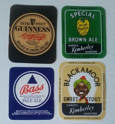 4 Different Hardy & Hansons Beer Labels  Blackamoor Guinness Stout Free Post Au.