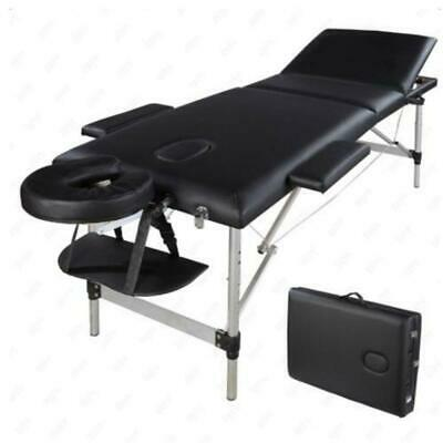 "84""L Portable 3 Fold Tattoo Therapy Spa Facial Beauty Bed Massage Table Chair"